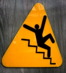 Warning Sign - Fort Mill & Rock Hill Slip & Fall Attorney