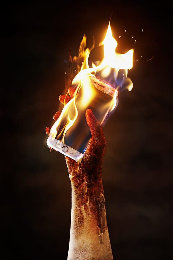 Cell Phone on Fire - Rock Hill Defective Product Attorney
